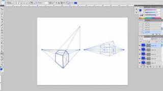 Drawing a house in two-point perspective