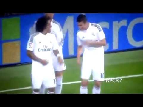 Cristiano Ronaldo, James and Marcelo dance