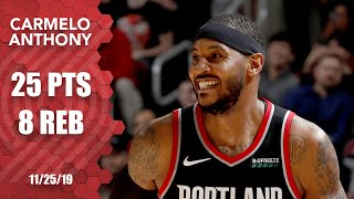 Carmelo Anthony scores a season-high 25 points with the Blazers | 2019-20 NBA Highlights