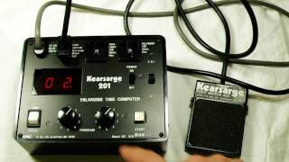 How to use a Kearsarge 201 and 452 foot pedal