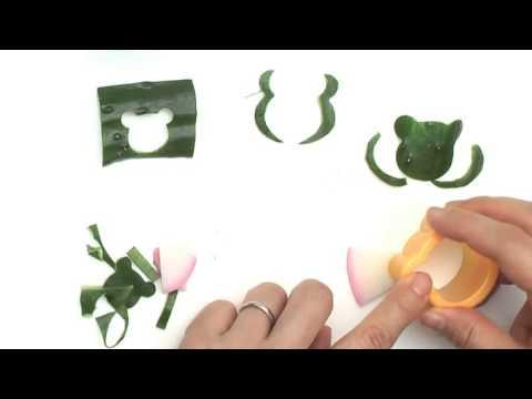 【レシピ】かえるを作る [Recipe]Make A Frog With A Cucumber