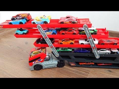 Автовоз Хот Вилс Обзор и Распаковка игрушек машинок Видео для детей про машинки игрушки