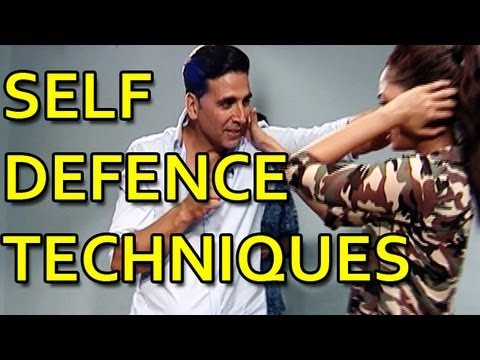 Akshay Kumar & Glen Levy teaches self defence techniques for women safety