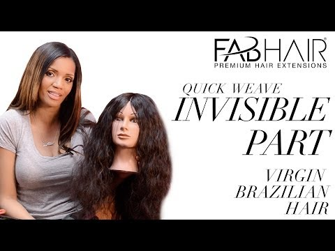 HOW TO: DO INVISIBLE PART - QUICK WEAVE INSTALL