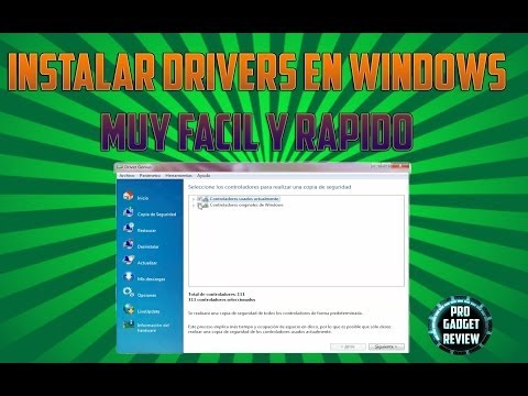 Instalar Drivers en Windows 7 y Copia de seguridad de Drivers - Starter, Home Premium, Ultimate