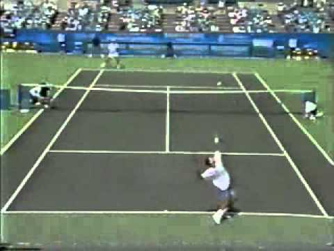 Pete Sampras great shots selection against Todd Martin (Cincinnati 1995 3R)
