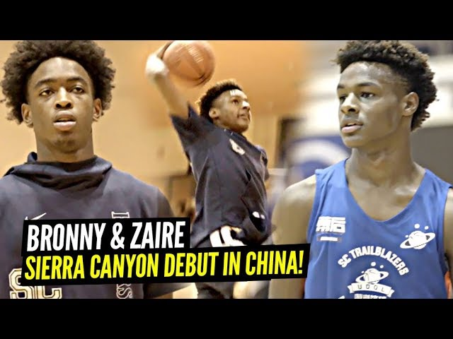 1st Look at Bronny James & Zaire Wade On SIERRA CANYON In China!! Bronny JUMPING Even HIGHER! thumbnail