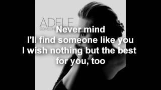 Adele Video - Adele - Someone Like You (Lyrics/Letra) - HD