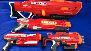 Nerf Mega Toy Guns Box of Toys for Kids Red Nerf Guns