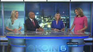 UFO Appears Behind Newscast in Oregon (Video)