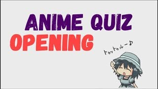 Guess the Anime Opening Quiz and Try not to Sing or Dance Challenge #1