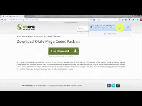 How to download and install K Lite Mega Codec Pack