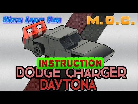 Lego Dodge Charger Daytona How to build Как собрать Лего самоделка Инструкция