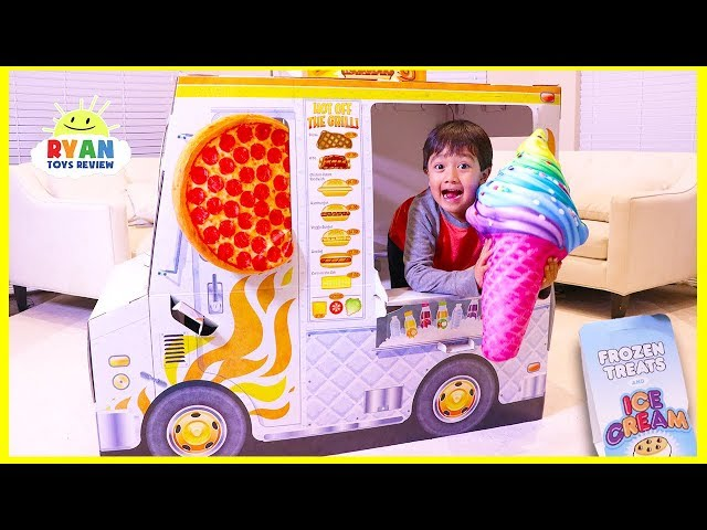 Ryan Pretend Play with cooking food truck playhouse