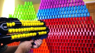 World's Craziest Nerf Gun VS 1000 Cups