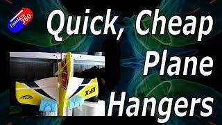 RC Quick Tips: Cheap Plane Hangers