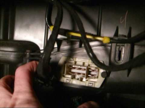 Fix Blower Motor Resistor on Town and Country 2002