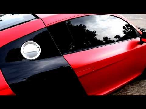 Audi R8 Full wrapped in Stain Red Chrome by Impressive Wrap HK