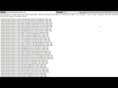 Using the malware.txt file