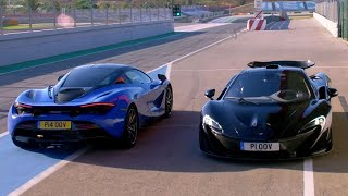 Filming the McLaren 720s vs McLaren P1 | Extra Gear | BBC