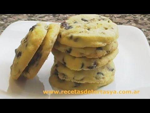 Galletitas con chips de chocolate - Cookies con chispas de chocolate - Recetas de Tortas YA!