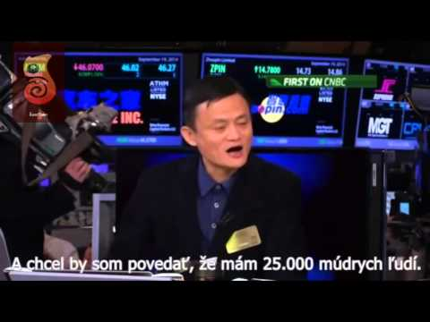 Jack Ma - China's richest man on Alibaba's IPO success with Slovak subtitles