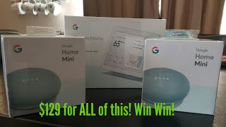 Google Home Hub & Google Home Mini | Unboxing & Setup AQUA COLOR