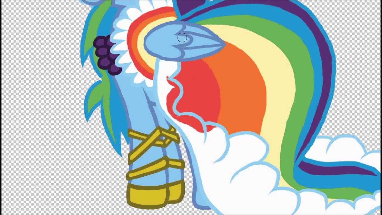 Mlp Speedpaint Rainbow Dash Filly Rainbow Dash Speedpaint