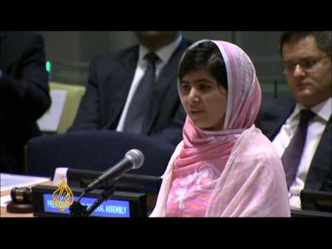 Pakistan's Malala takes education plea to UN