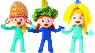 FUNNY KIDS MAKE ORIGINAL COSTUMES ❤ Play Doh Cartoons For Kids
