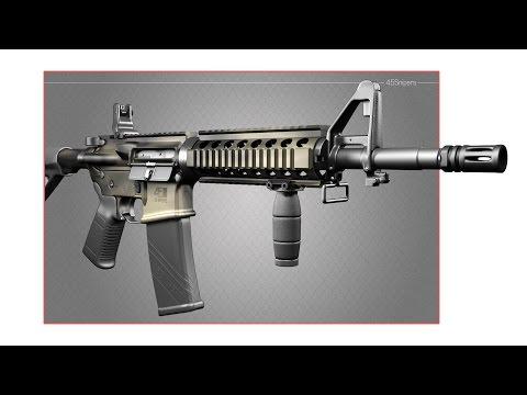Ударно-спусковой механизм ArmaLite AR-15. 3D видео