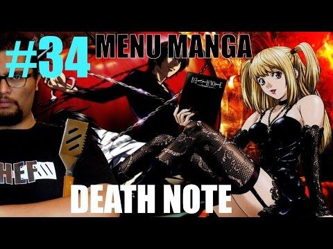 Le cas DEATH NOTE MENU MANGA #34