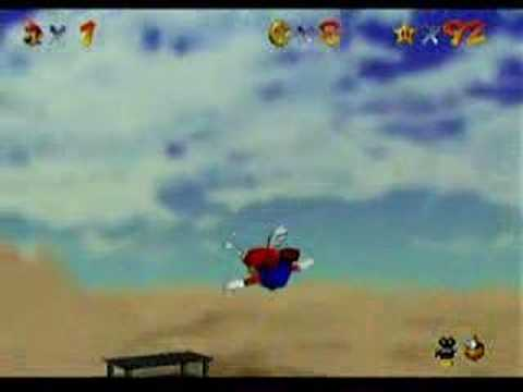 Super Mario 64 Walkthrough: Free Flying For 8 Red Coins