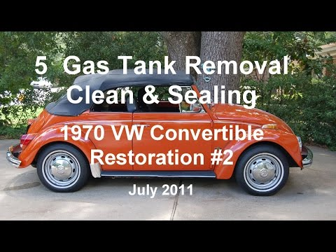 5 of 44 1970 VW Beetle Gas Tank Removal & Sealing 7-6-2011.wmv