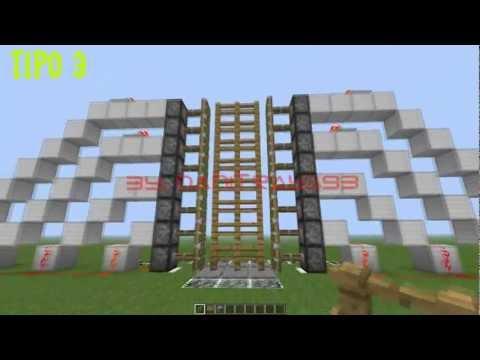 Minecraft - Como hacer PUERTA CASTILLO con 16 PISTONES (Fácil y Rápido)