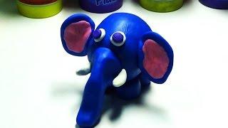 Play doh Elephant - Cách làm con voi bằng đất sét