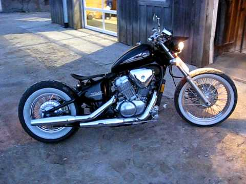 My custom Honda shadow vlx 600 vt600c Bobber. Sounds like a Harley.