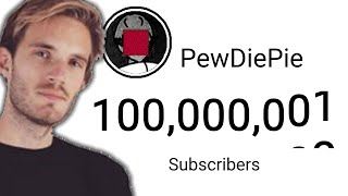 PewDiePie HITTING 100 M Subscribers (9 Hour Timelapse)