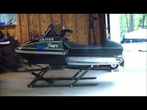 home built snowmobile lift