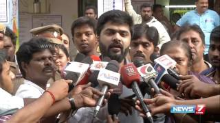 Actor Simbu speaks after casting his vote | News7 Tamil