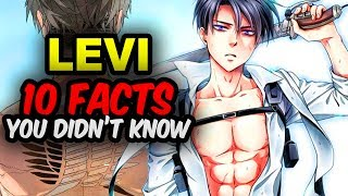 10 Levi Ackerman Facts You Didn't Know! Attack on Titan Facts