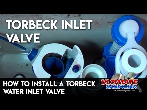How to install a toilet water inlet valve - Torbeck valve - Ultimate Handyman DIY tips
