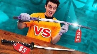 $5 vs $100 Sword Challenge!