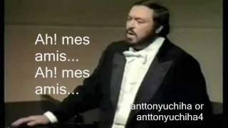 Luciano Pavarotti La Fille Du Regiment Ah Mes Amis Pour Mon