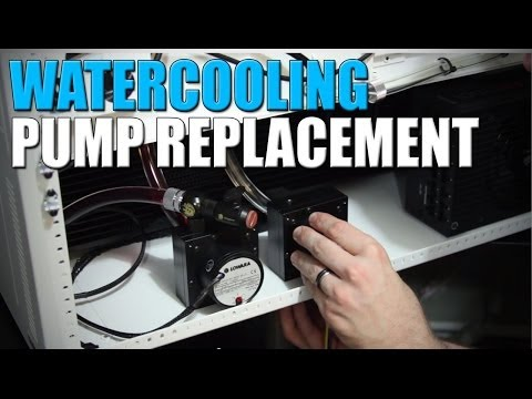 Watercooling Pump Replacement and Bleeding - Build VLOG