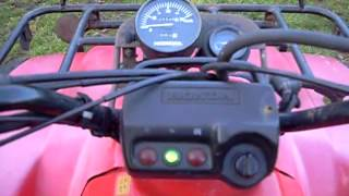 Honda Fourtrax 300 4x4 quad bike