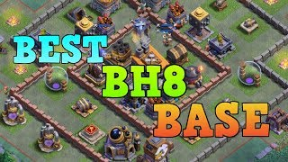 BEST BH8 BASE LAYOUT WITH REPLAY   COC BUILDER HALL 8 BEST TROPHY BASE   CLASH OF CLANS 10.13 MB