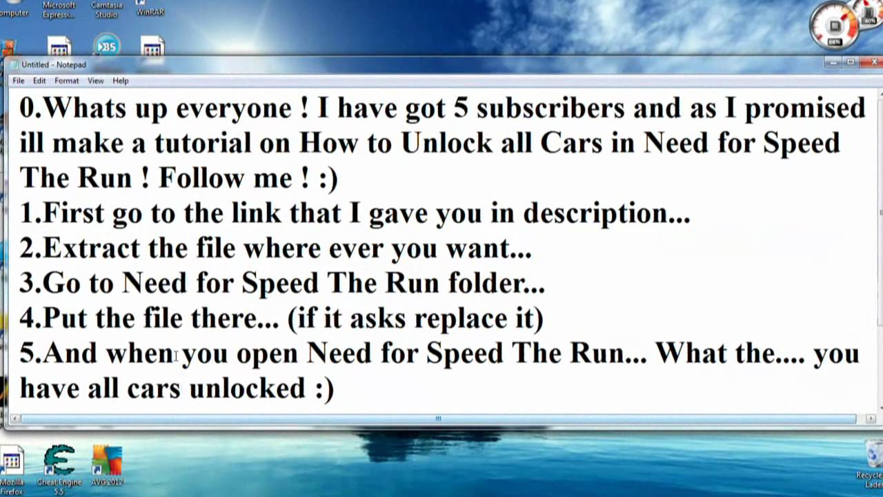 need for speed the run cheat pc