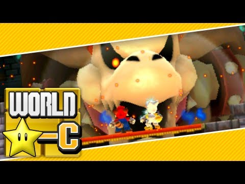 New Super Mario Bros. 2 (3DS) - World Star-Castle (2 Player) 100% FINAL BOSS