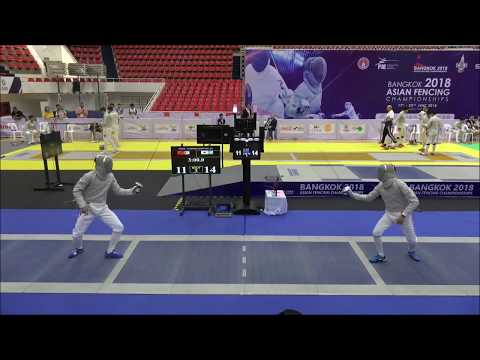 China v Korea: Men's Sabre Team Semifinals 2018 Bangkok Asian Championships thumbnail